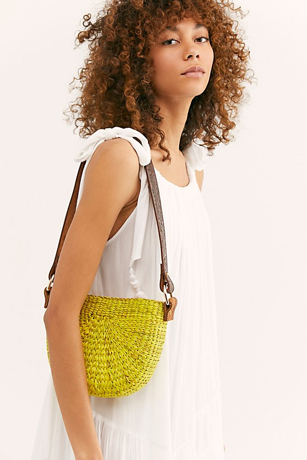 Slide View 1: Sunshine Straw Shoulder Bag
