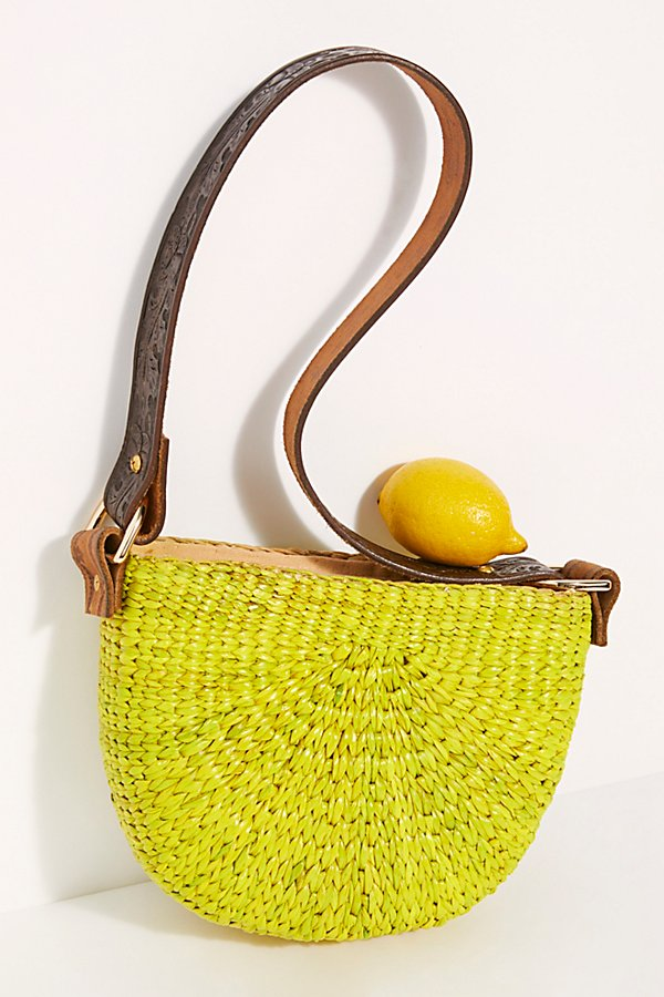 Slide View 2: Sunshine Straw Shoulder Bag