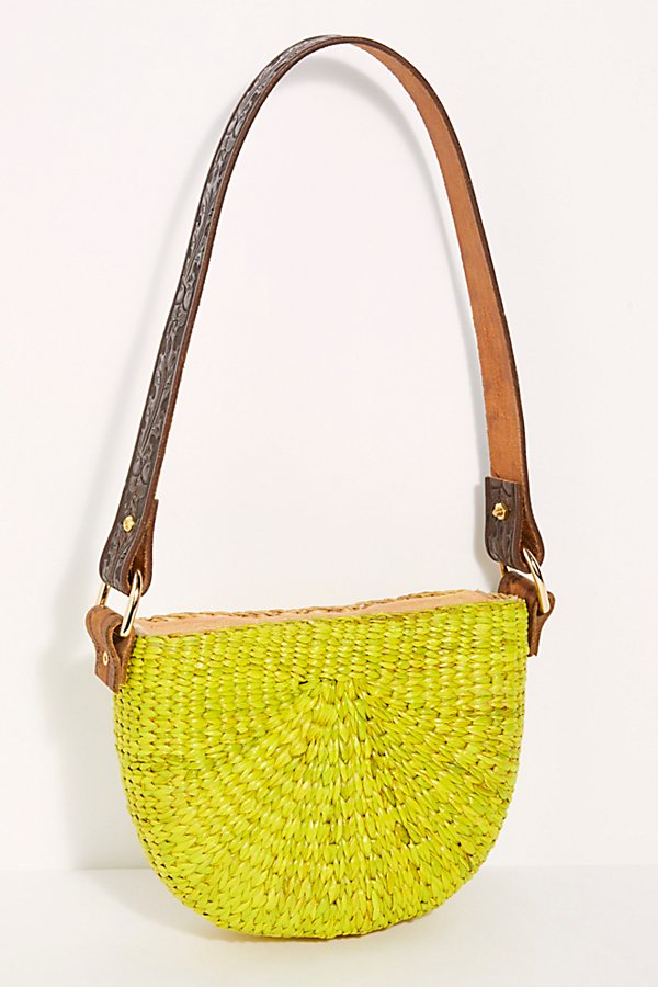 Slide View 4: Sunshine Straw Shoulder Bag
