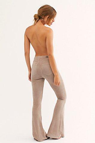 Vegan Suede Flare Pants by Blank Nyc