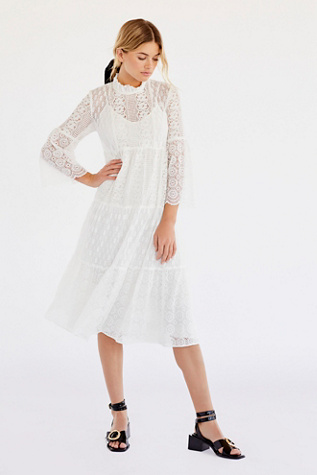 Midnight Medley Lace Dress by Anna Sui