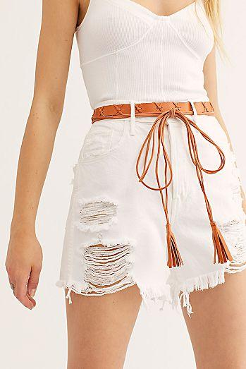 7d5483a040f Aztec Leather Wrap Belt