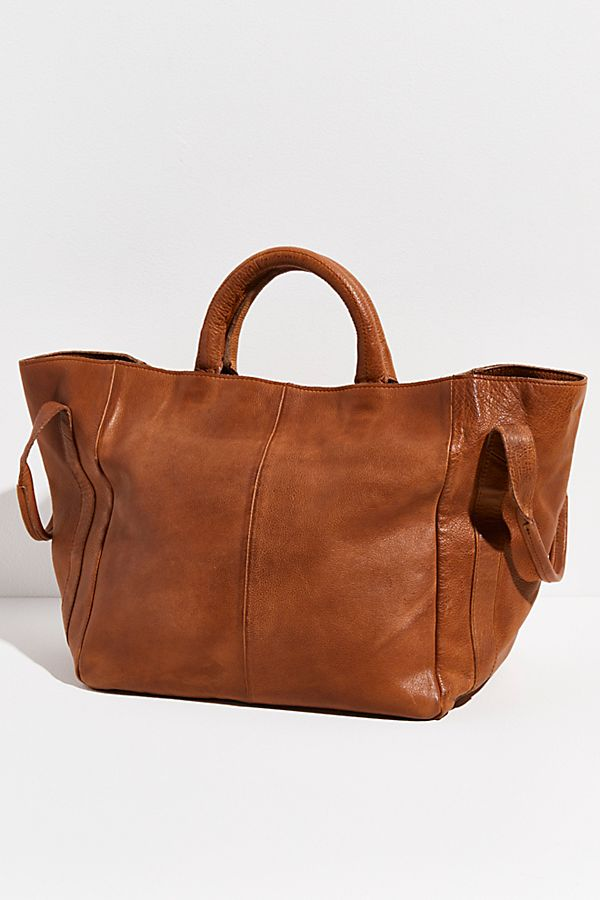Tan Leather We The Free NEW Free People Vintage Distressed