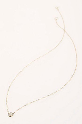 14k Diamond Natural Pendant Necklace