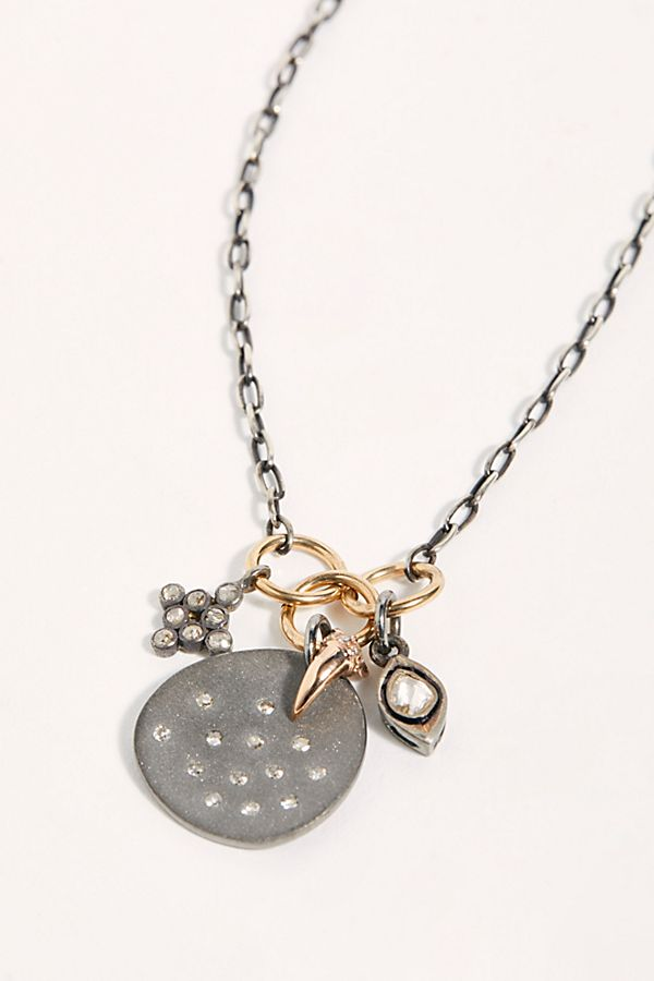 Diamond Orbit Charm Necklace by Feathered Soul