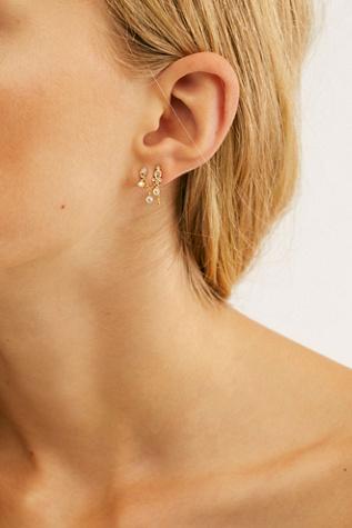 Diamond Delia And Marquise Dangle Chain Orbital Single Earring by Maria Tash