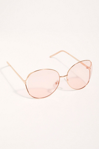 Lily Round Sunglasses by Free People