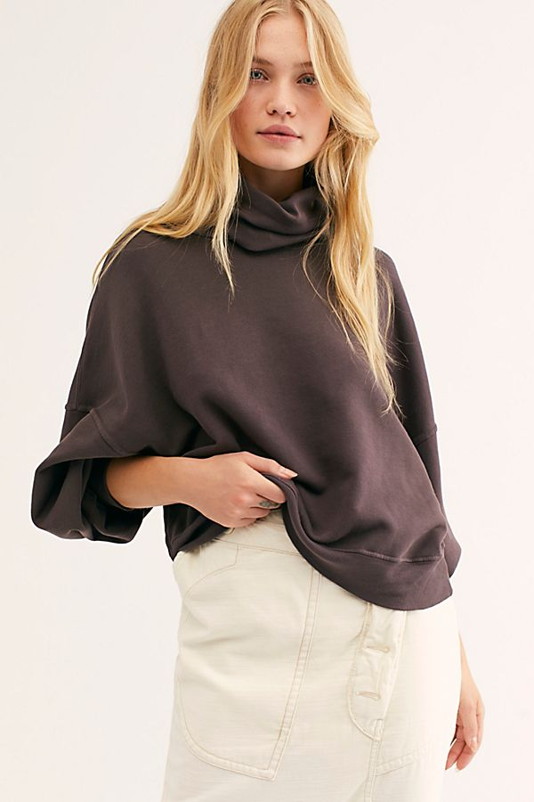 Balloon Sleeve Turtleneck Top by Agolde
