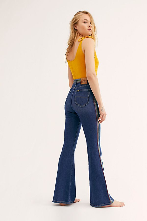 various colors how to find temperament shoes Lee Rainbow High-Rise Flare Jeans