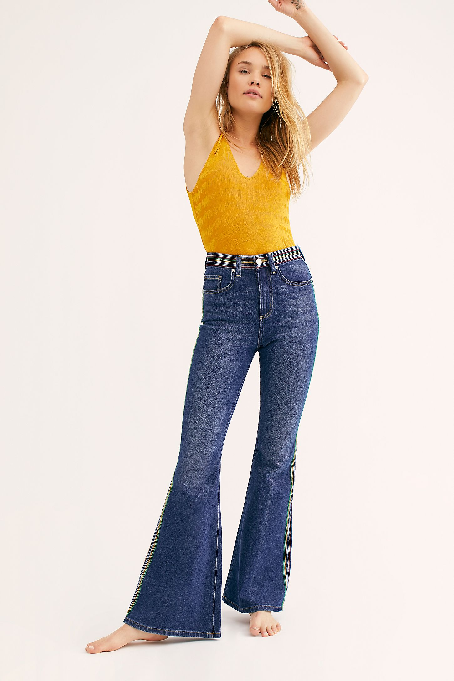 8516d901 Slide View 4: Lee Rainbow High-Rise Flare Jeans