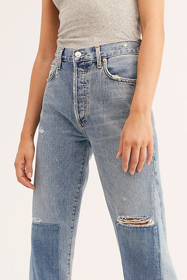 hot-selling fashion 2019 best beautiful style Citizens of Humanity Rhiannon Patched Flare Jeans