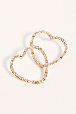 Shimmer Shapes Hoop Earrings by Free People