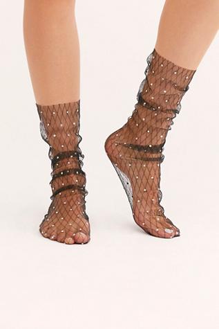 Crystal Mesh Socks by Lirika Matoshi