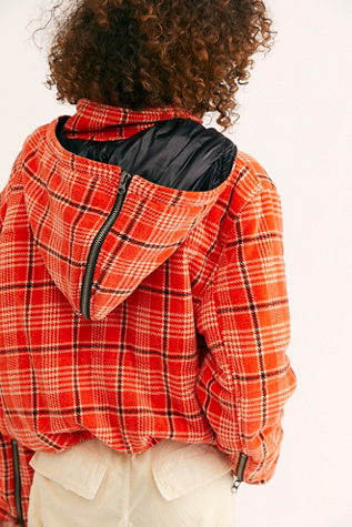Strike Out Plaid Puffer Jacket by We The Free