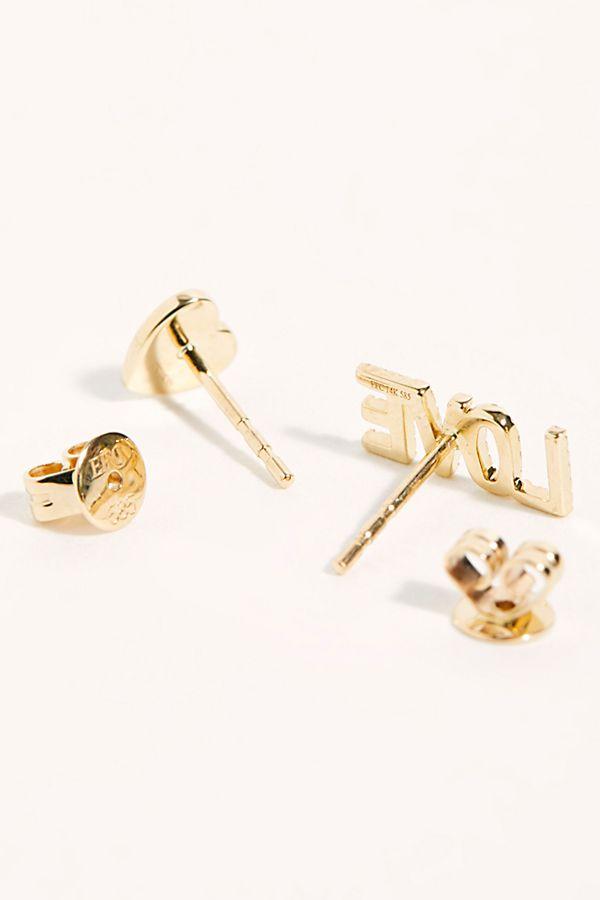 3fb11d220f790 14k Diamond Love Stud Earrings