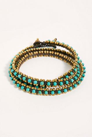 Serefina Stone Wrap Bracelet by Serefina