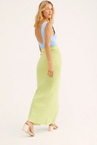 Calista Ribbed Maxi Skirt by Flook