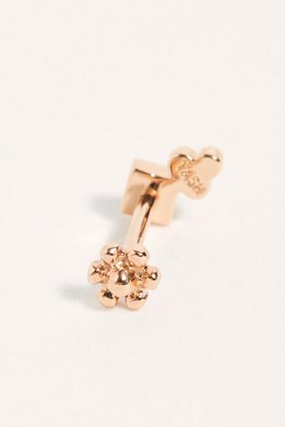 Princess Cut Four Diamond Trinity Threader Stud Earring by Maria Tash