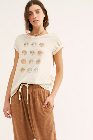 Moon Phases Crew Neck Tee by Mate The Label
