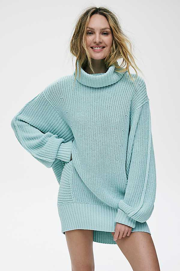 Light blue color Batwing sweater
