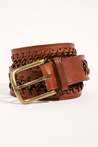 Cordoba Chain Leather Belt by Fp Collection