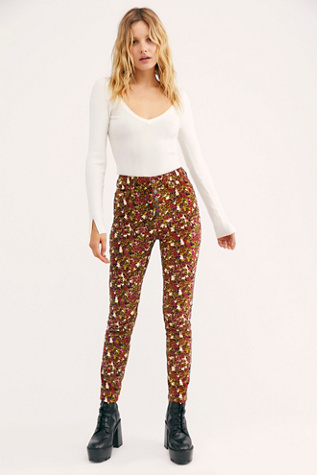 Sun Chaser Cord Printed Skinny Jeans by We The Free