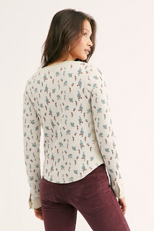 Printed Carly Henley by Free People