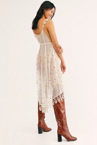 Layered Up Mesh Midi Slip by Intimately