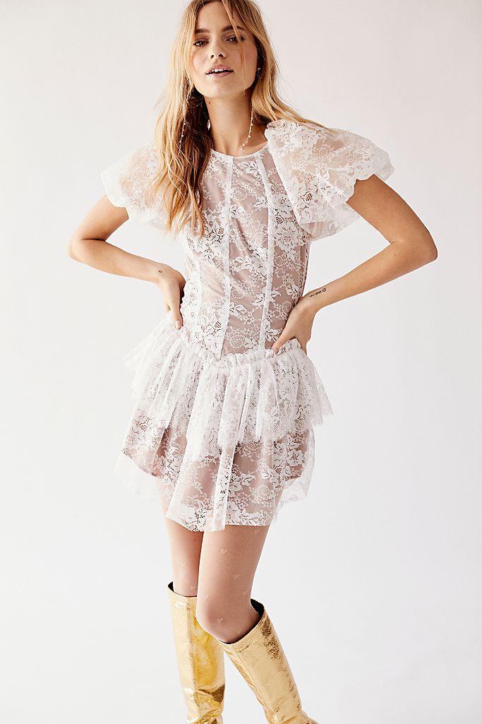 For Love Lemons Verbena Lace Tiered Mini Dress Free People