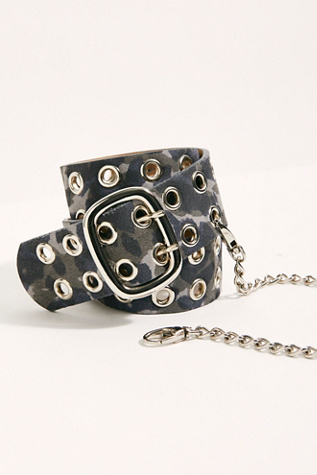 Carmen Camo Chain Belt by Leatherock