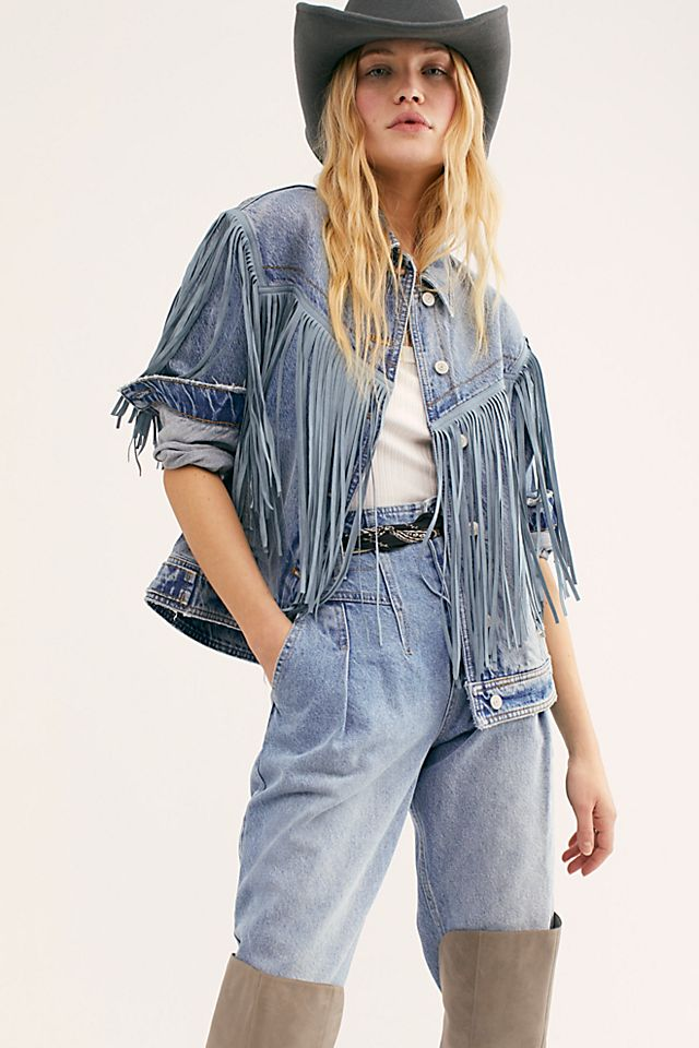 After Hours Fringe Denim Jacket