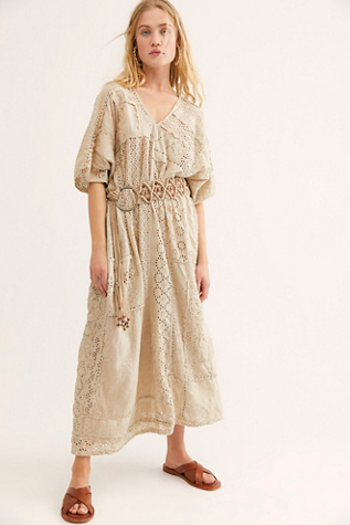Cotton Eyelet Lilian Kaftan Dress | Free People