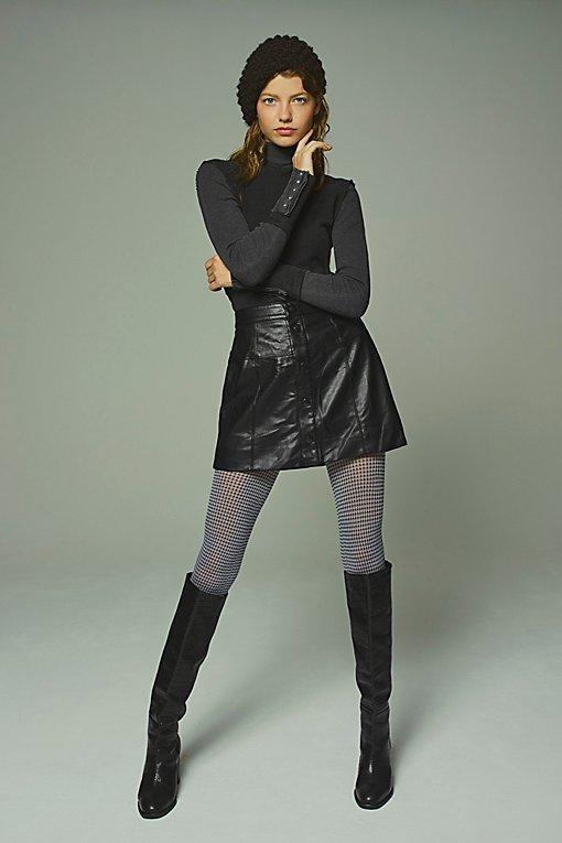Maisie Vegan Mini Skirt