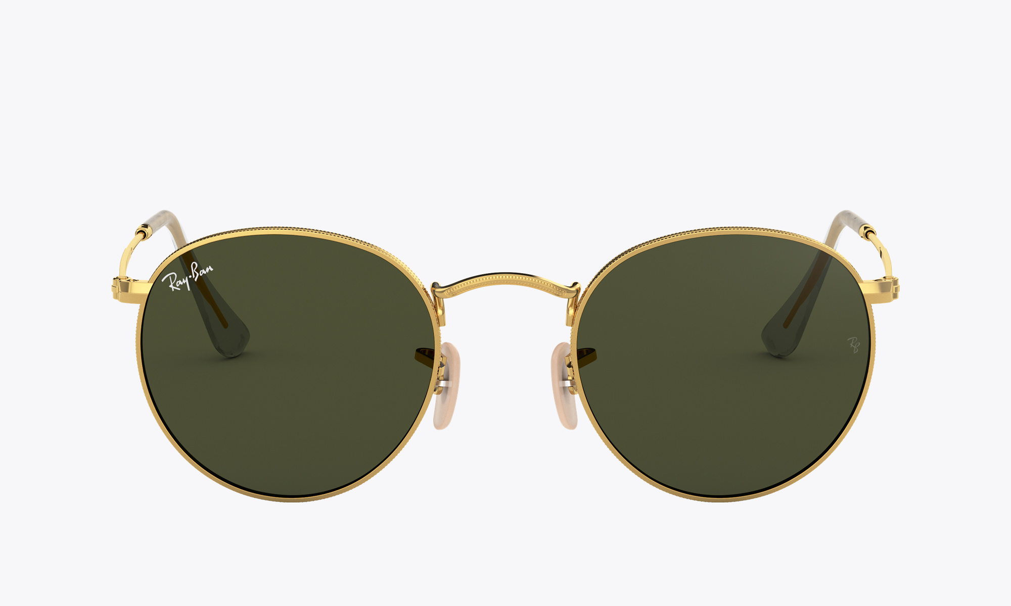 Image of Ray-Ban ROUND FLASH LENSES color Gold