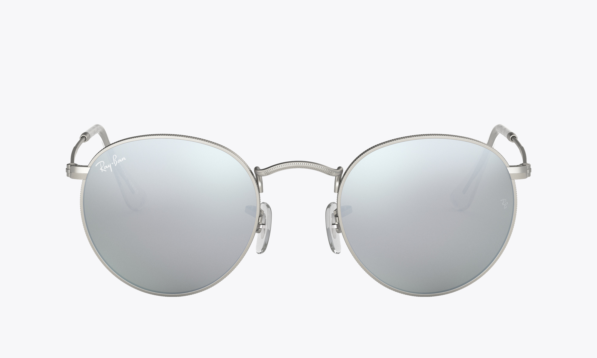 Image of Ray-Ban ROUND FLASH LENSES color Silver