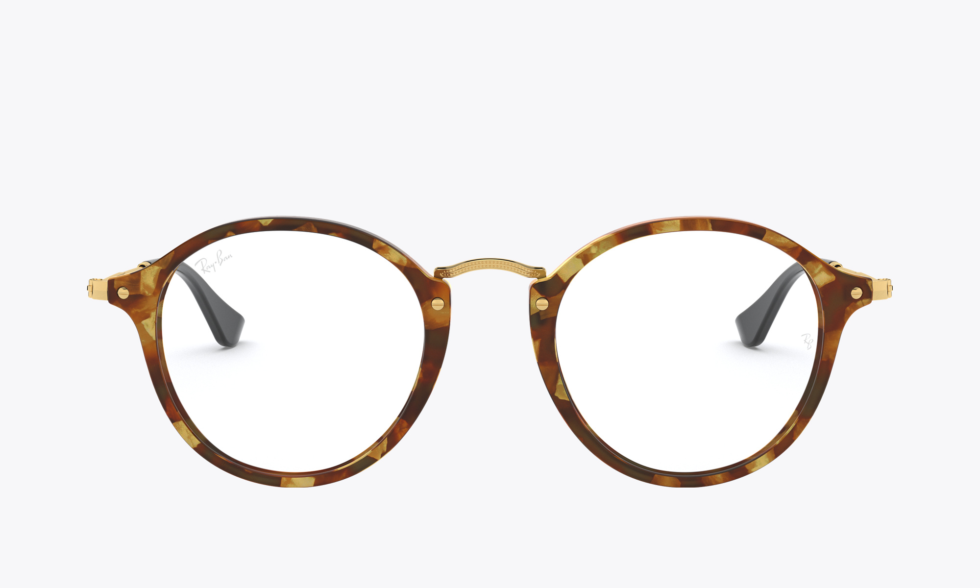 Image of Ray-Ban ROUND FLECK color Brown