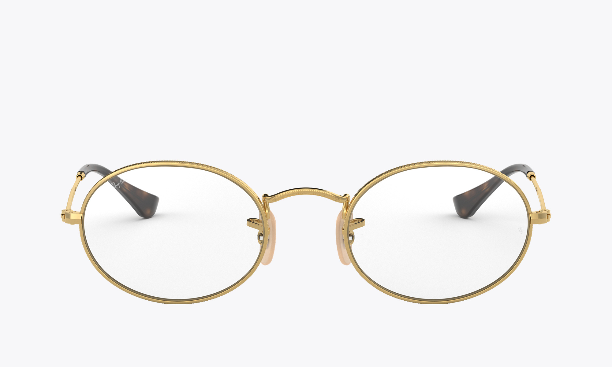 Image of Ray-Ban OVAL OPTICS color Gold