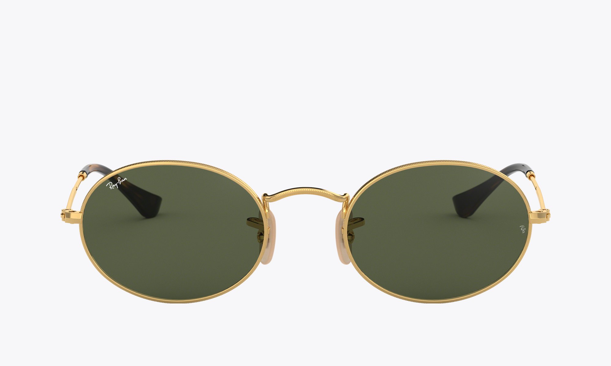 Image of Ray-Ban OVAL FLAT LENSES color Gold