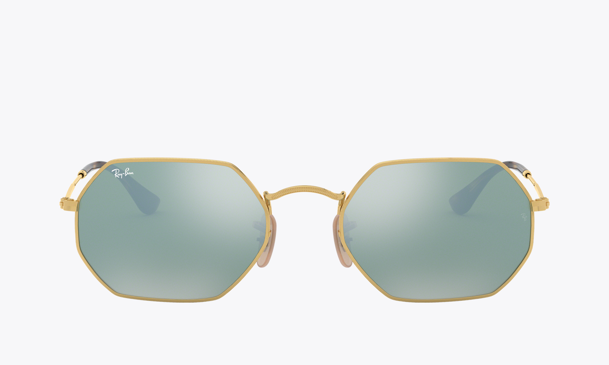 Image of Ray-Ban OCTAGONAL FLAT LENSES color Gold