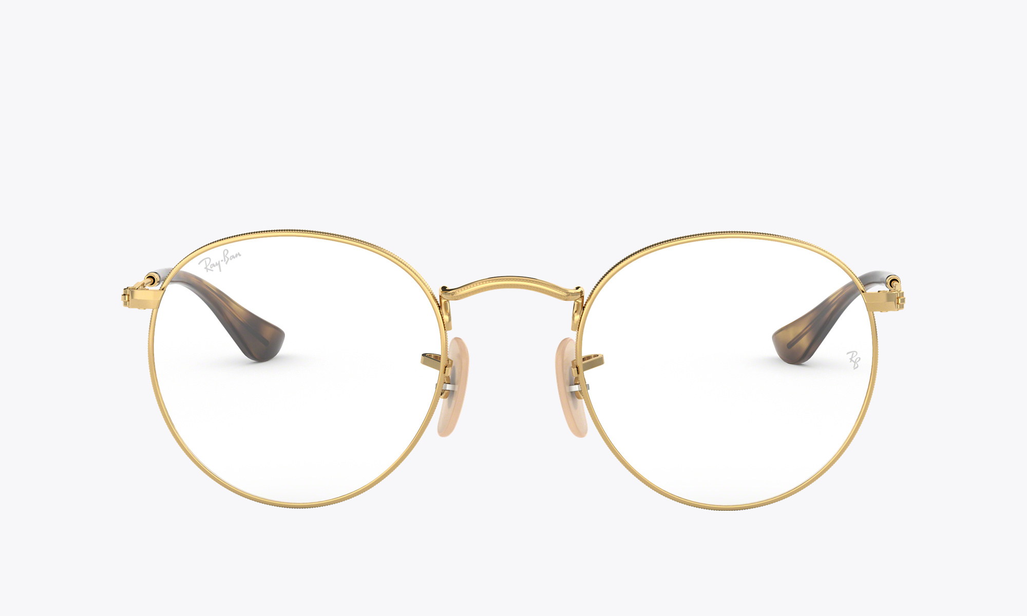 Image of Ray-Ban ROUND METAL OPTICS color Gold