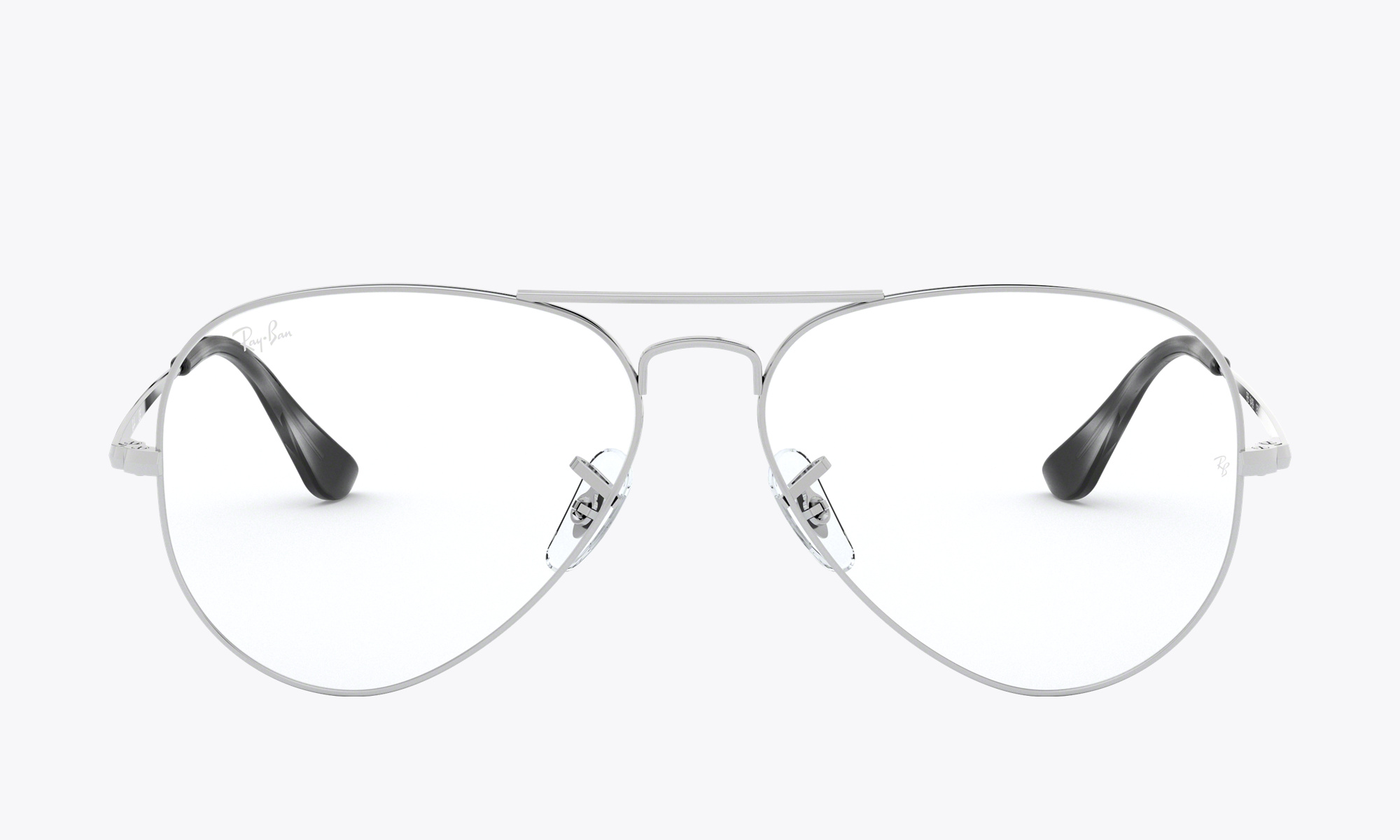 Image of Ray-Ban Aviator Optics color Silver