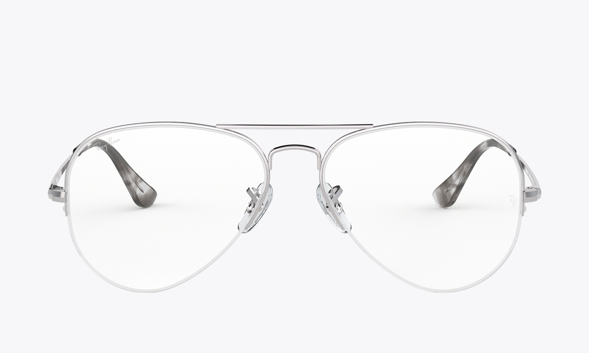 Details about Eyeglasses frames ray ban rx6589 Silver Metal Aviator 2501 show original title