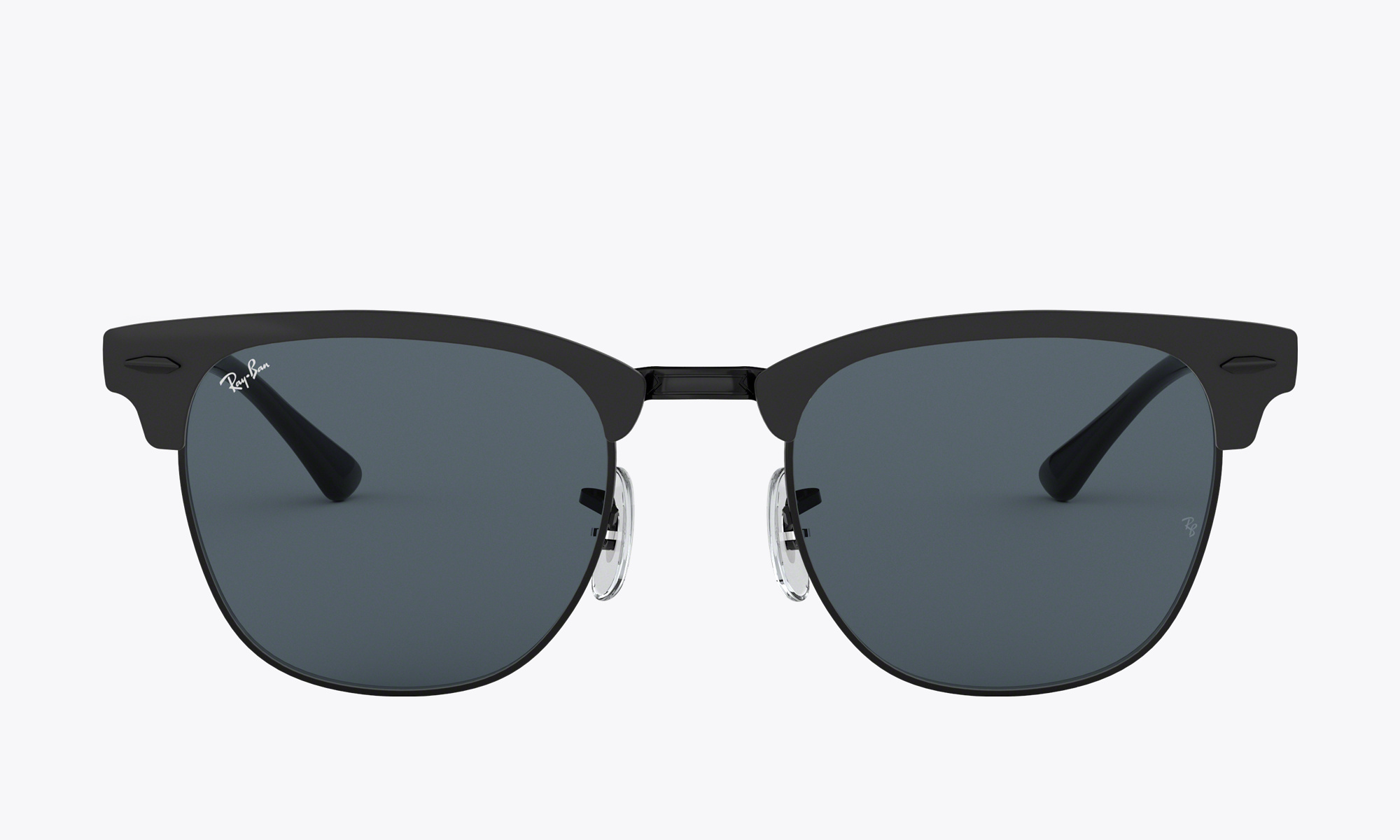 Image of Ray-Ban CLUBMASTER METAL color Black