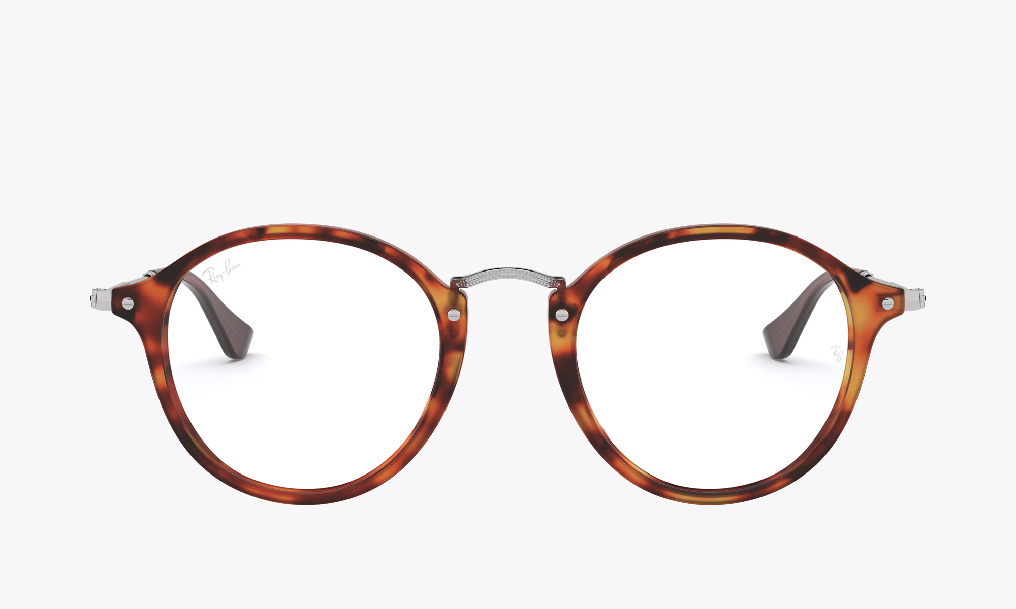 Image of Ray-Ban ROUND FLECK color Tortoise