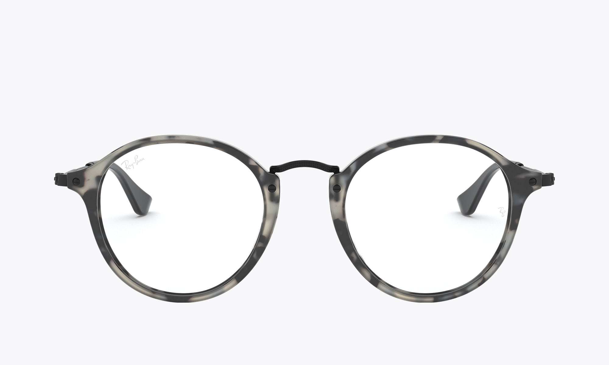 Image of Ray-Ban ROUND FLECK color Grey