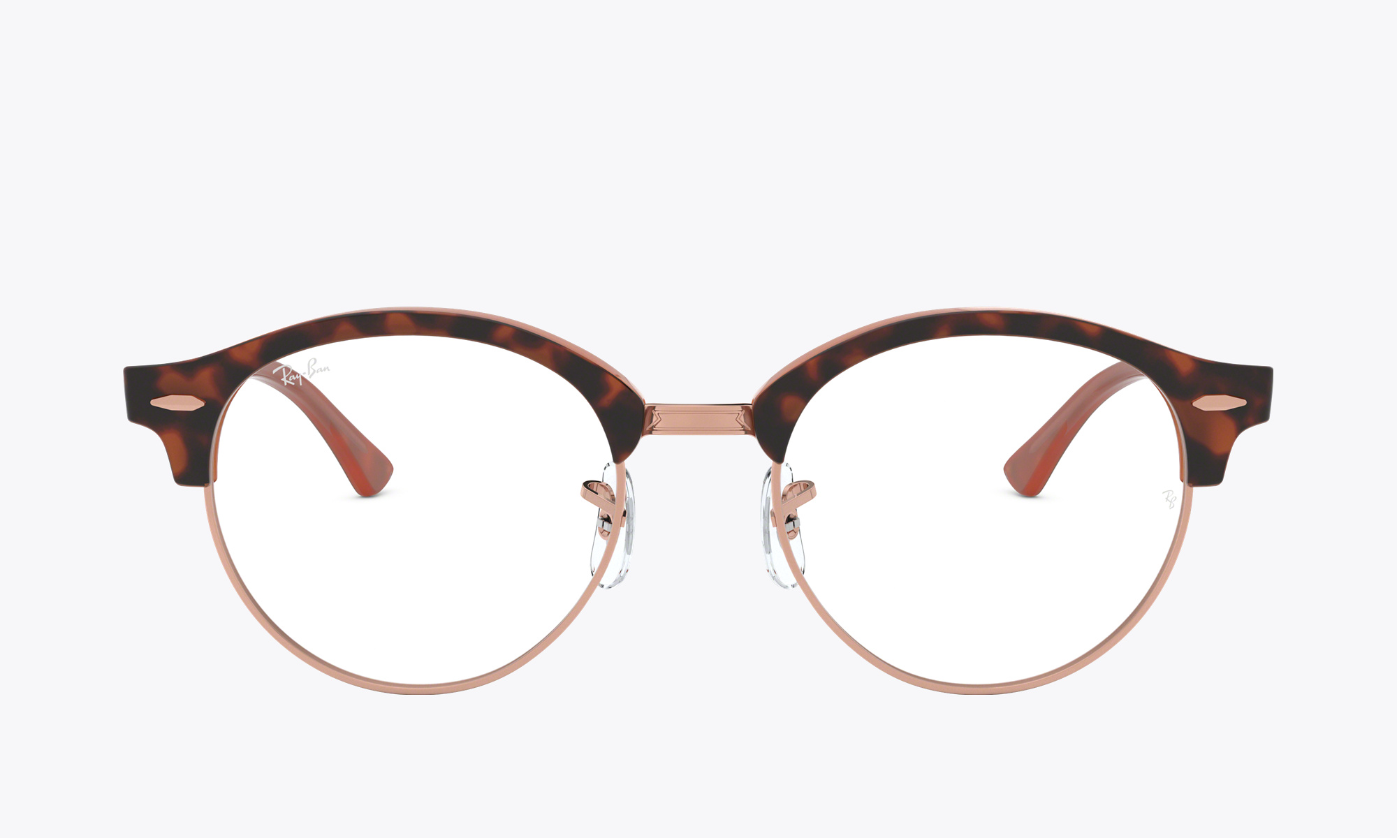 Image of Ray-Ban CLUBROUND OPTICS color Brown