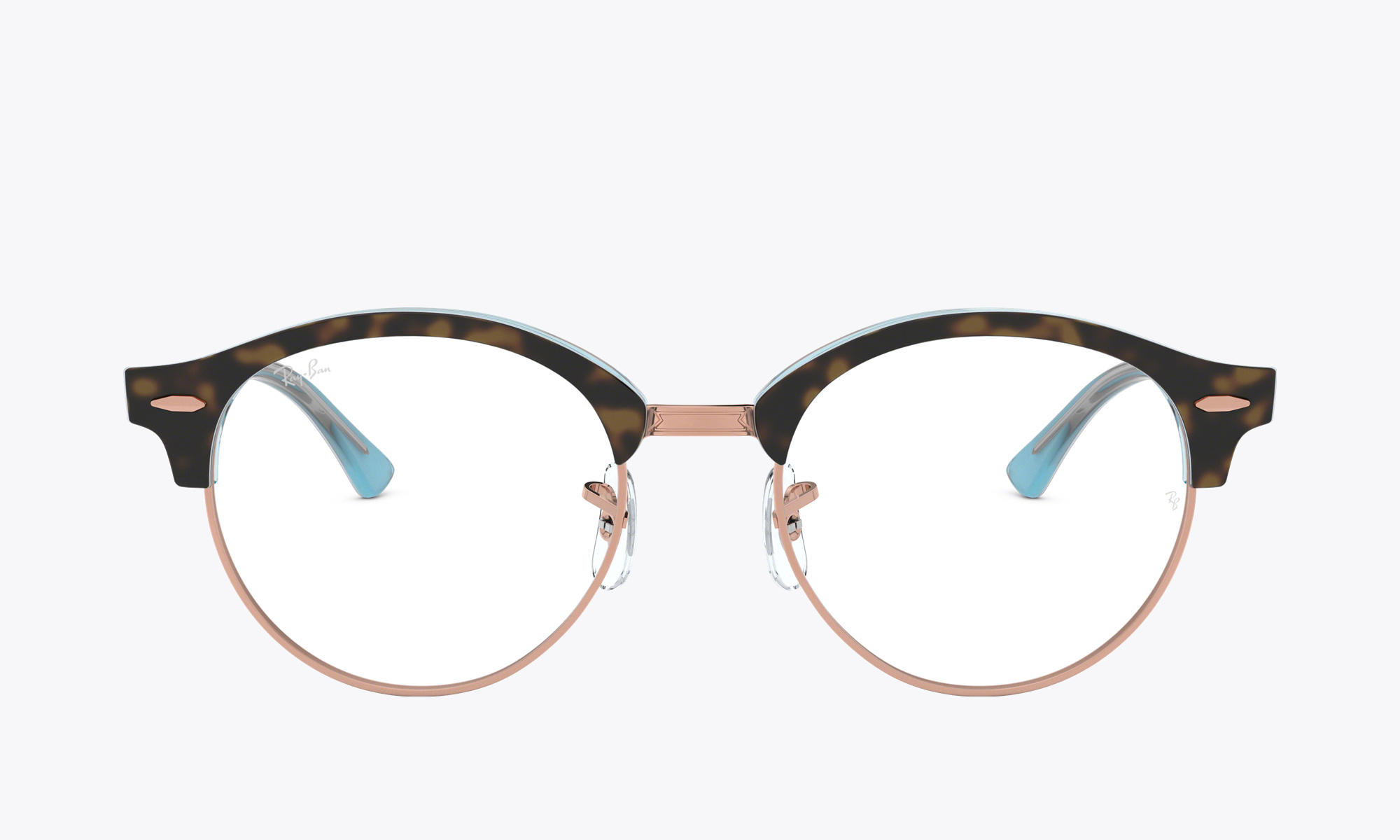Image of Ray-Ban CLUBROUND OPTICS color Tortoise