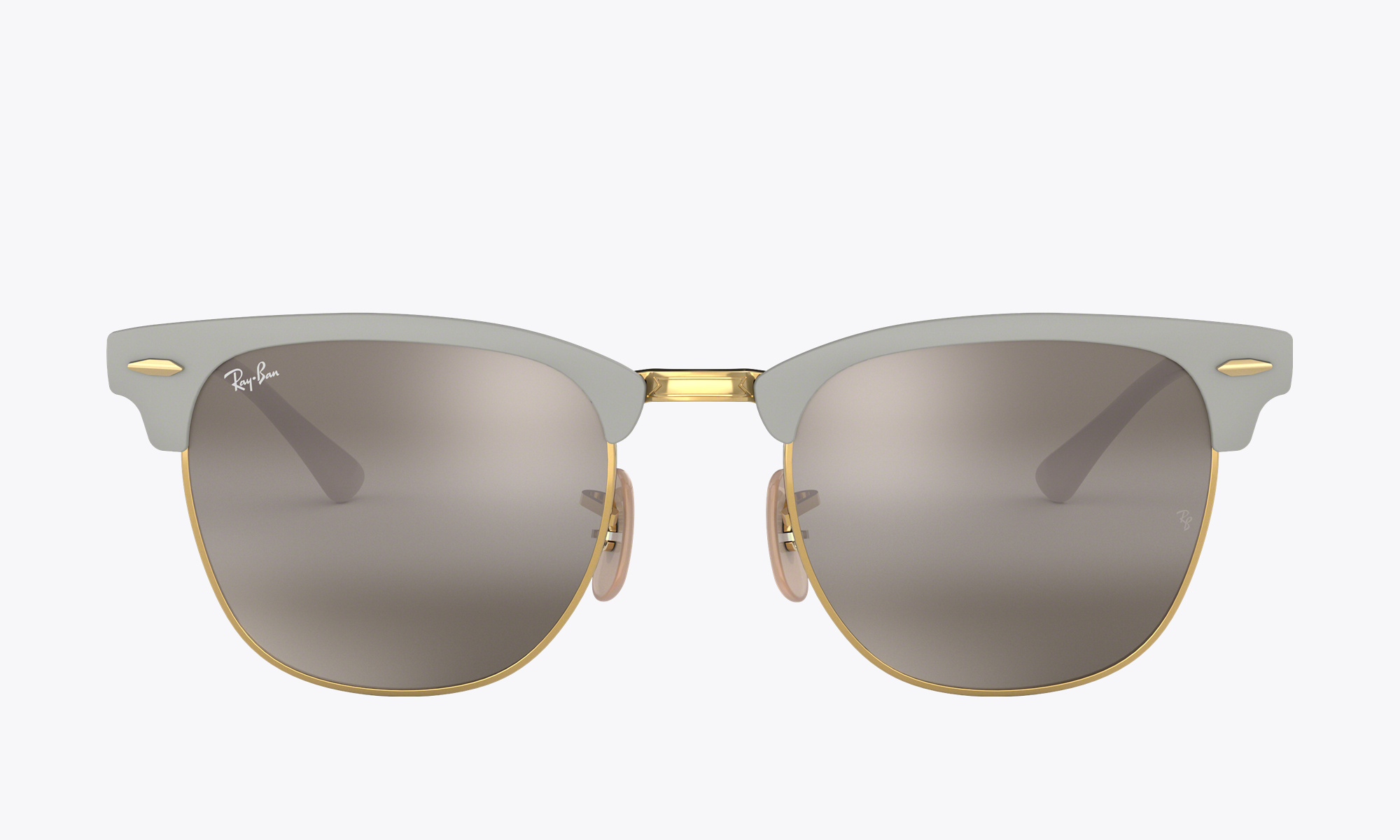 Image of Ray-Ban CLUBMASTER METAL color Grey