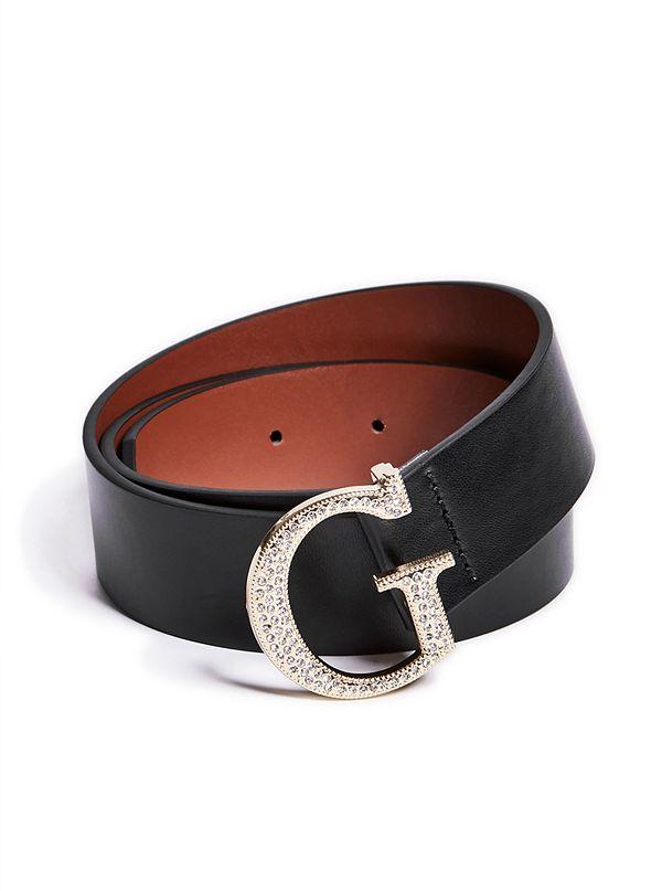 ae520c8d42b Rhinestone G Logo Buckle Belt