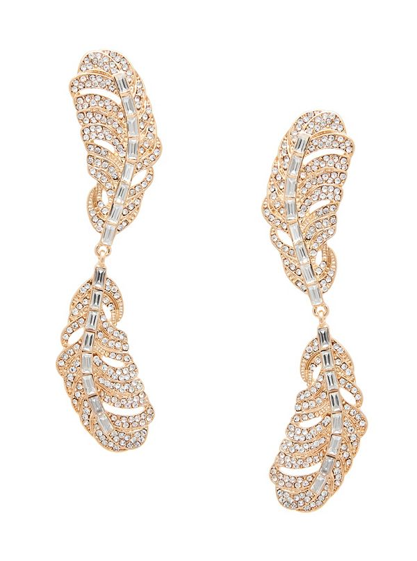 50fc01dca Gold-Tone Feather Drop Earring